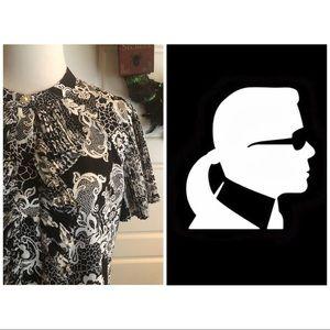 Karl Lagerfeld Lace Print Top